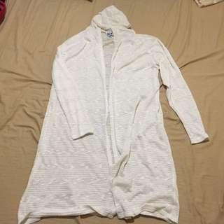 Off White Cardigan Plus Size