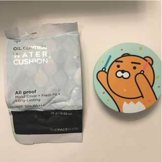 THE FACE SHOP OIL CONTROL WATER CUSHION (KAKAO FRIENDS RYAN) #203
