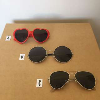 Women's Sunglasses (B = SOLD)