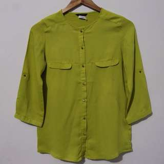 The Executive Green Blouse