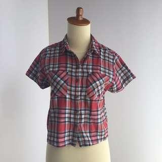 Topshop Checkered Shirt