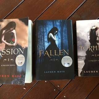 Lauren Kate Books 1, 2, 3 Fallen, Torment, Passion Series
