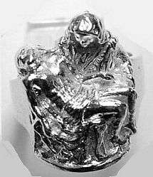 Pieta Virgin Mary Jesus Sterling Silver Ring Jewelry Choose your ring size