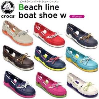 Crocs Beach Line Boat Shoe Red