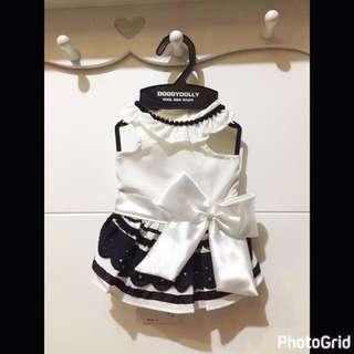 Doggy Dolly Black White Dress