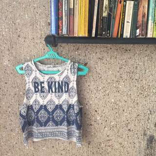 Crop Top With Text