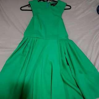 Green A-line Dress