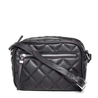 Forever 21 Quilted Sling Bag (BLACK)