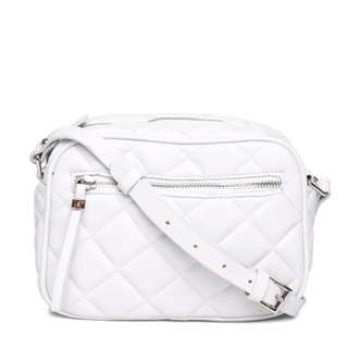 Forever 21 Quilted Sling Bag (White)