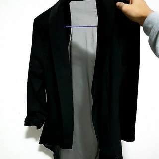 Black Chiffon Back Jacket