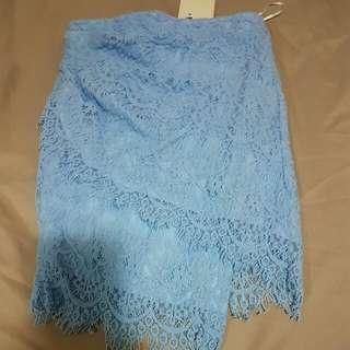 Light Blue Lace Skirt