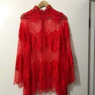 Mossman Top Size 10 Red