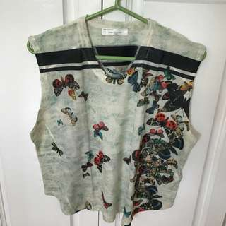 Zara Sleeveless Cotton Top