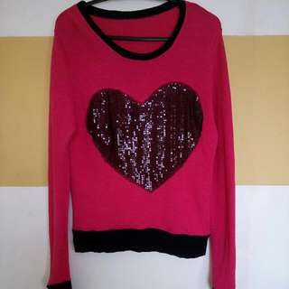 pink Heart Long sleeves