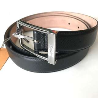 Brand New In Box TODS Men's Black Leather Belt