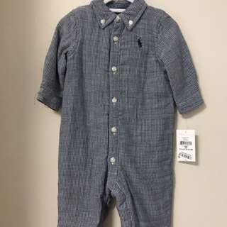 NEW WITH TAGS RALPH LAUREN BOYS 3 MONTH WINTER ALL IN ONE ONESIE