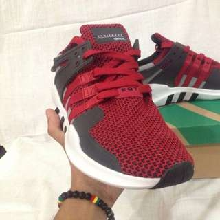 Red Adidas EQT Support ADV Shoes
