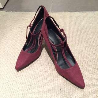Zara Oxblood T-bar Heels