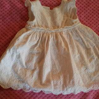 mothercare white dress 0-3mos