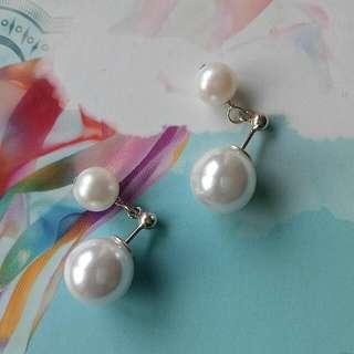 珍珠純銀耳環