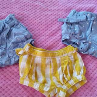 cotton on baby shorts 0-3mos