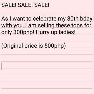Sale! Tops