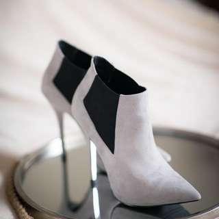 Light Grey Suede Heels