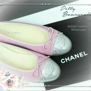 9Chanel 2017 New Ballet Shoes Canvas