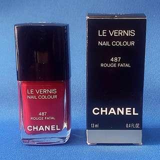 Chanel Nail Polish No. 487 Rouge Fatal