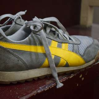 Black and Yellow Rubber Shoes