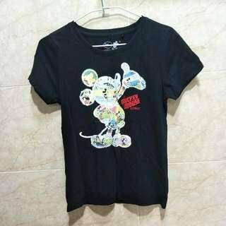 Lativ 女版 Mickey Mouse 黑色棉T