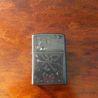 Genuine Zippo Lighter, Skull Pattern
