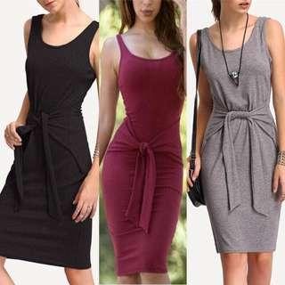 Bodycon Plain Dress/scp
