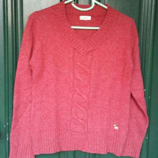 Size 10 Medium Dusty Red Knit
