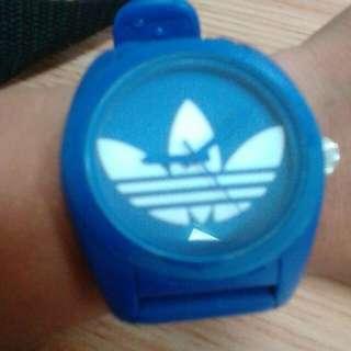 adidas blue watch,