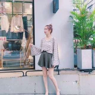Cunz韓國連線絕美褲裙套裝