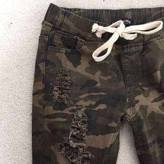 Camo Ripped Fashion Nova Jeans
