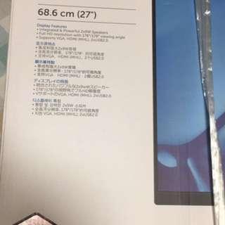 """Dell 27 Monitor  S2715H 68.6(cm)(27"""")"""