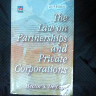 Law On Partnerships and Private Corporation