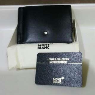 """No Trade"" Mont Blanc Wallet 6CC with Money Clip (Original & New)"