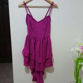 BNWT womens purple fishtail dress