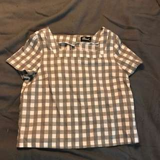 Revival Gingham Cropped Shirt