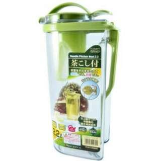 🚚 品名:日本岩崎冷熱濾茶壺(綠)2.2L