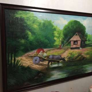 Philippine Harvest Painting Oil Canvass