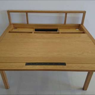 High Quality Teak / Oat Wood Desk