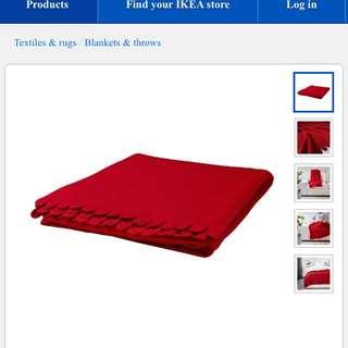 IKEA Red Polaroids Throw