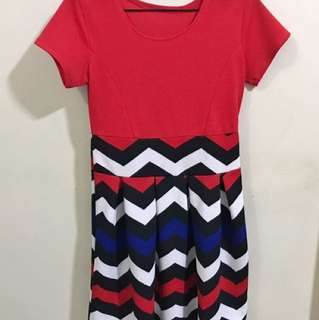 Red Dress with Aztec details