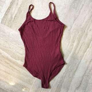 Urban Outfitters Burgundy Bodysuit