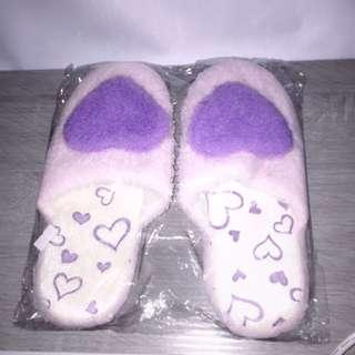 紫色拖鞋❤️毛絨絨室內拖