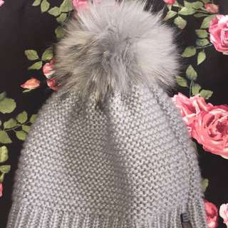 Grey Rudsak Toque With Fluffy Pom Pom